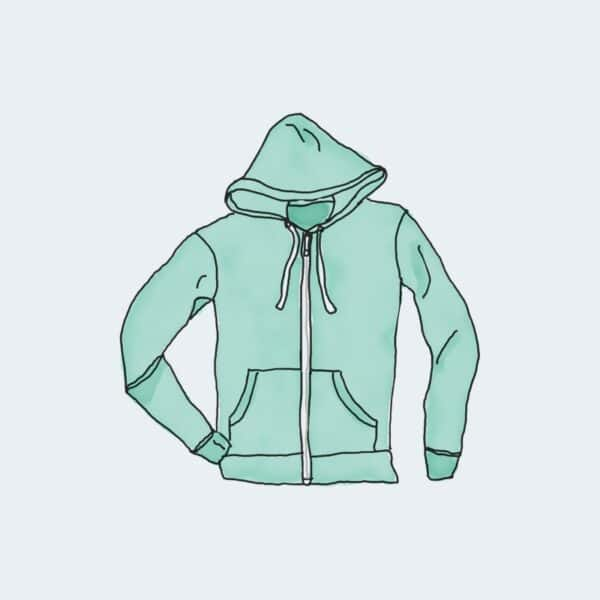 Hoodie with Zipper 1